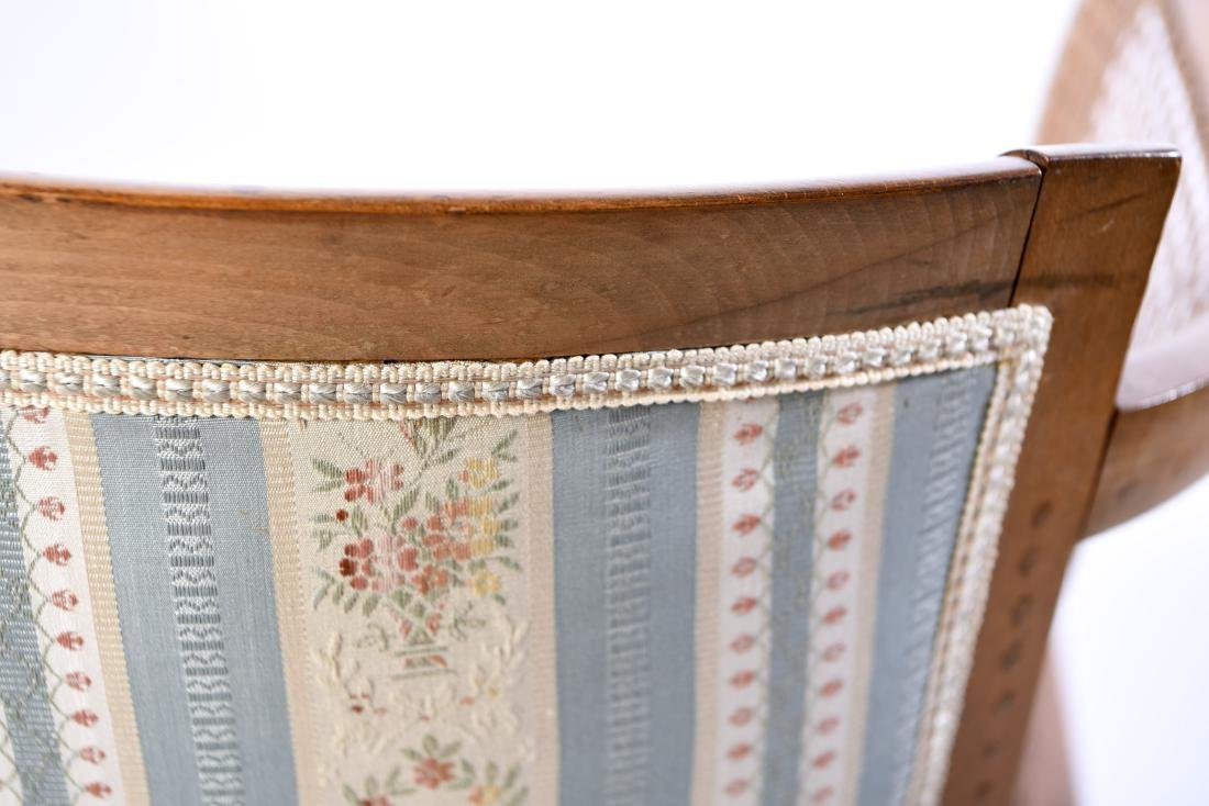 PAIR OF FRENCH CANED BERGERE CHAIRS - 9