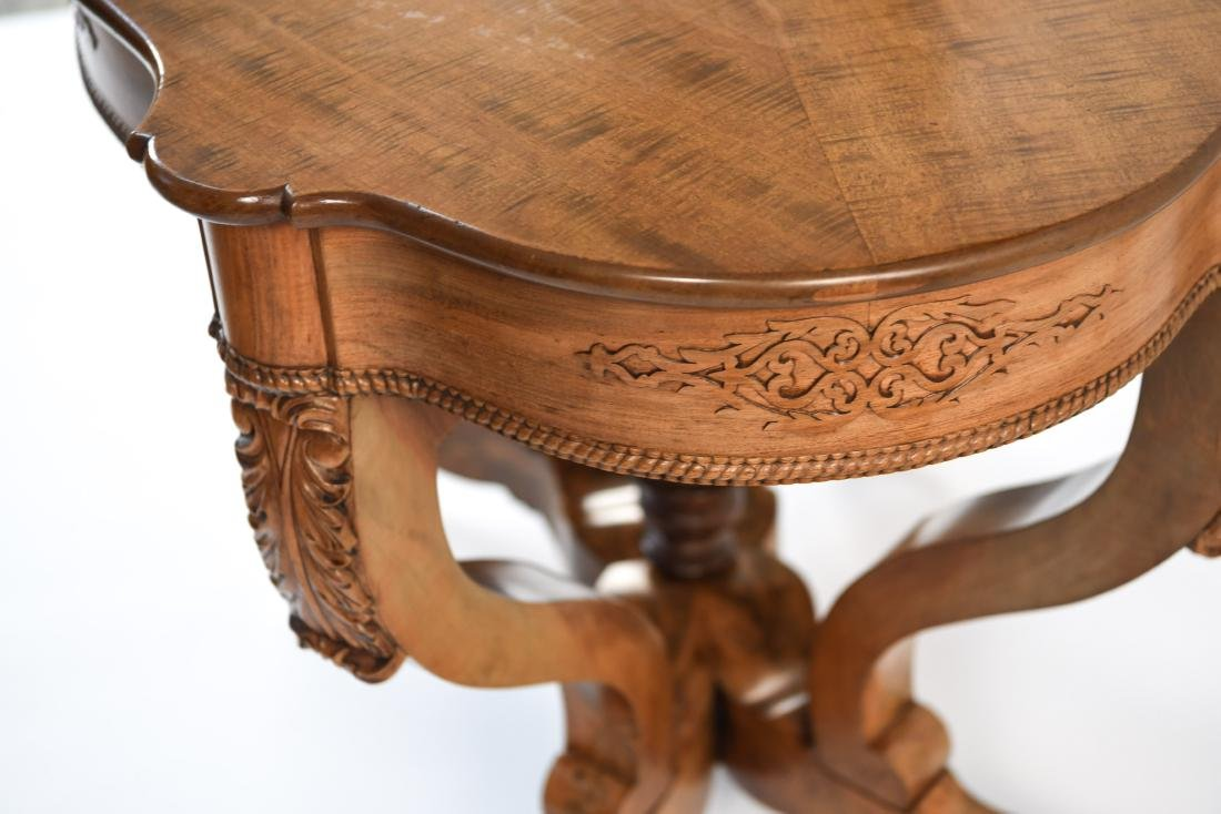 VICTORIAN CARVED & SHAPED CENTER TABLE - 10