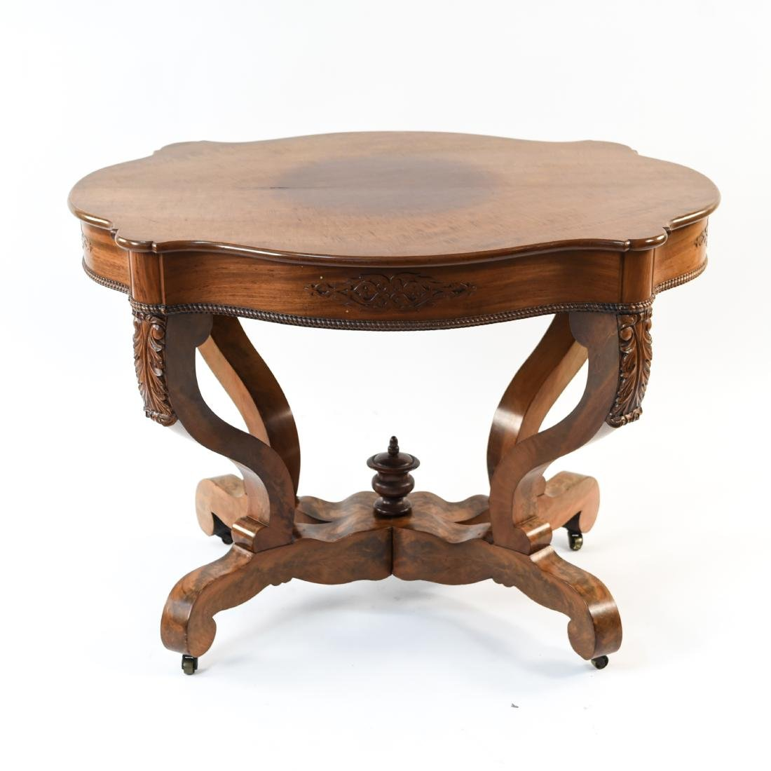 VICTORIAN CARVED & SHAPED CENTER TABLE