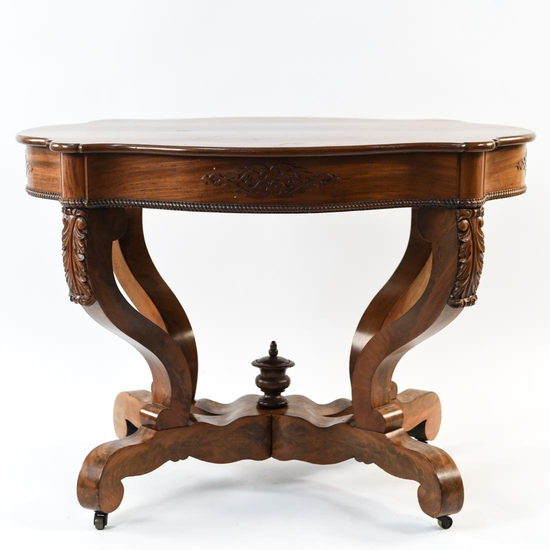 VICTORIAN CARVED & SHAPED CENTER TABLE - 2