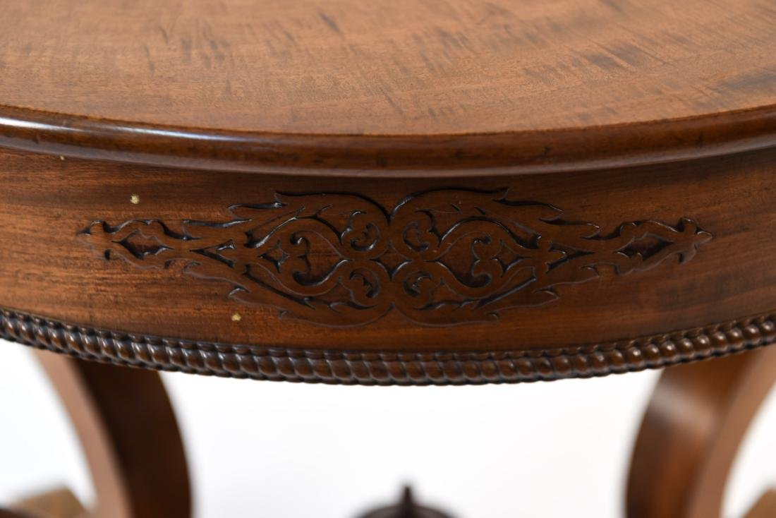 VICTORIAN CARVED & SHAPED CENTER TABLE - 3