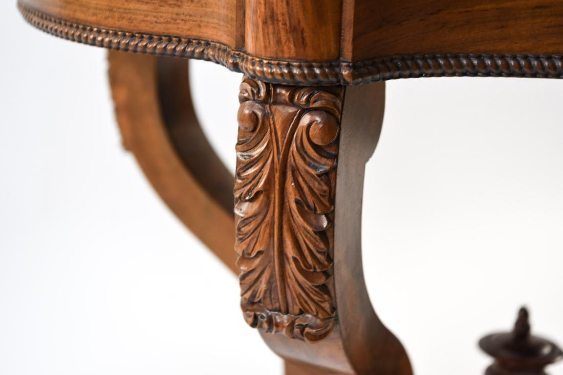 VICTORIAN CARVED & SHAPED CENTER TABLE - 5
