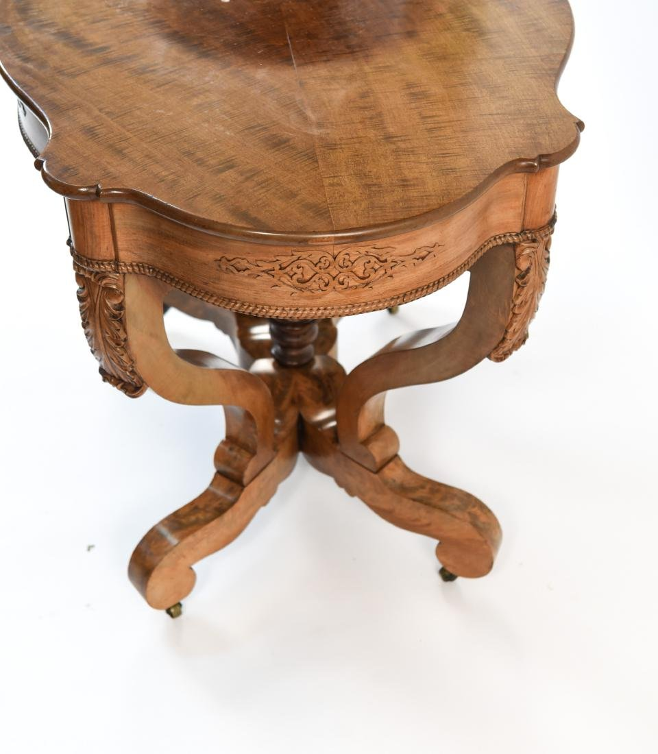 VICTORIAN CARVED & SHAPED CENTER TABLE - 9