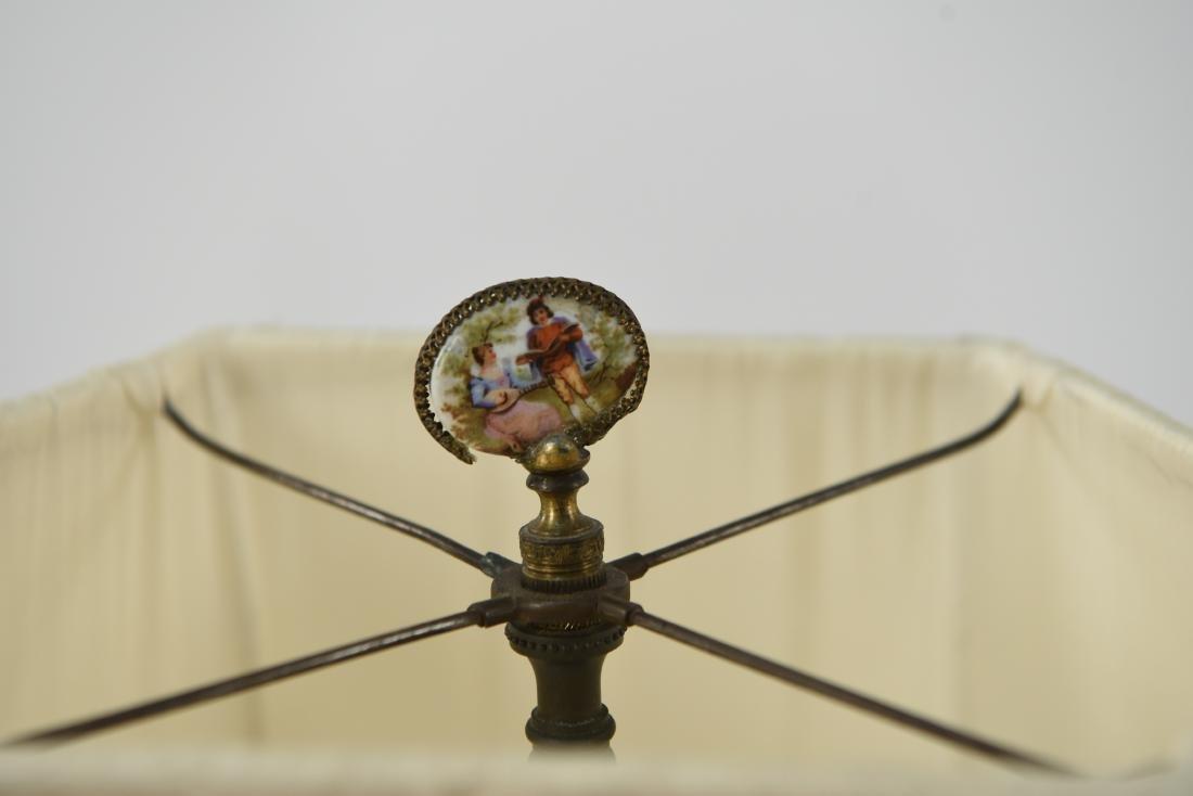 MANNER OF SEVRES PORCELAIN & ORMOLU LAMP - 4