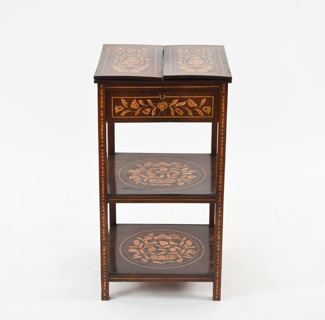 19TH C. INLAID TABLE / STAND