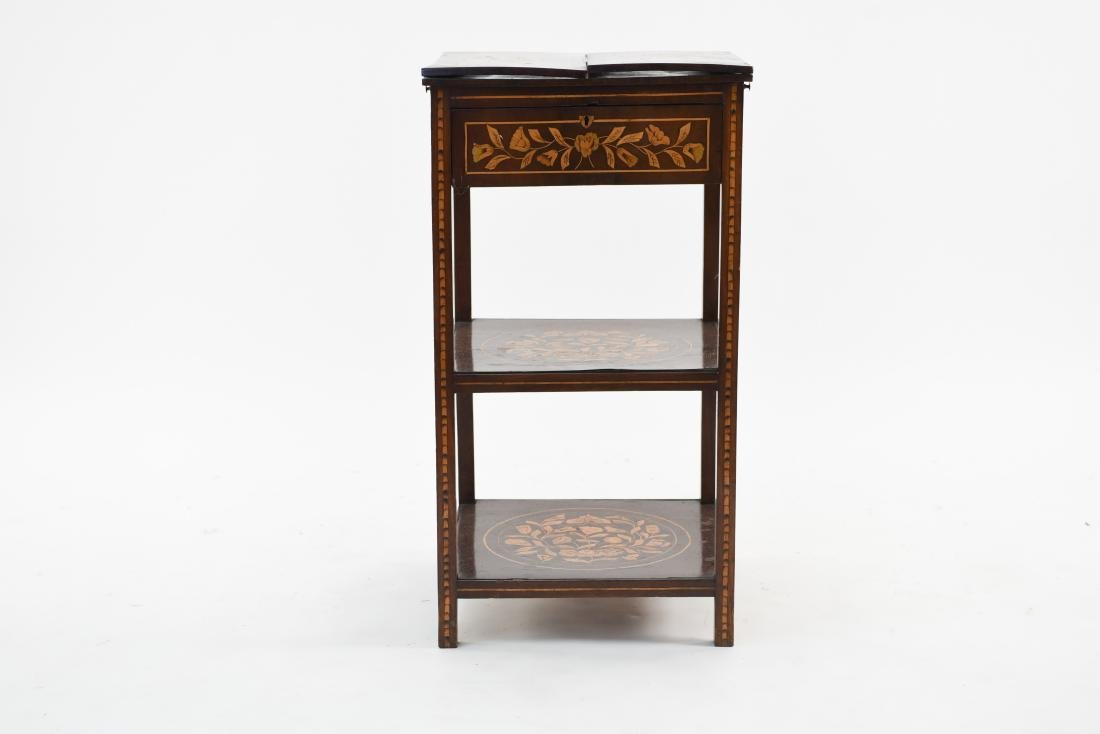 19TH C. INLAID TABLE / STAND - 2