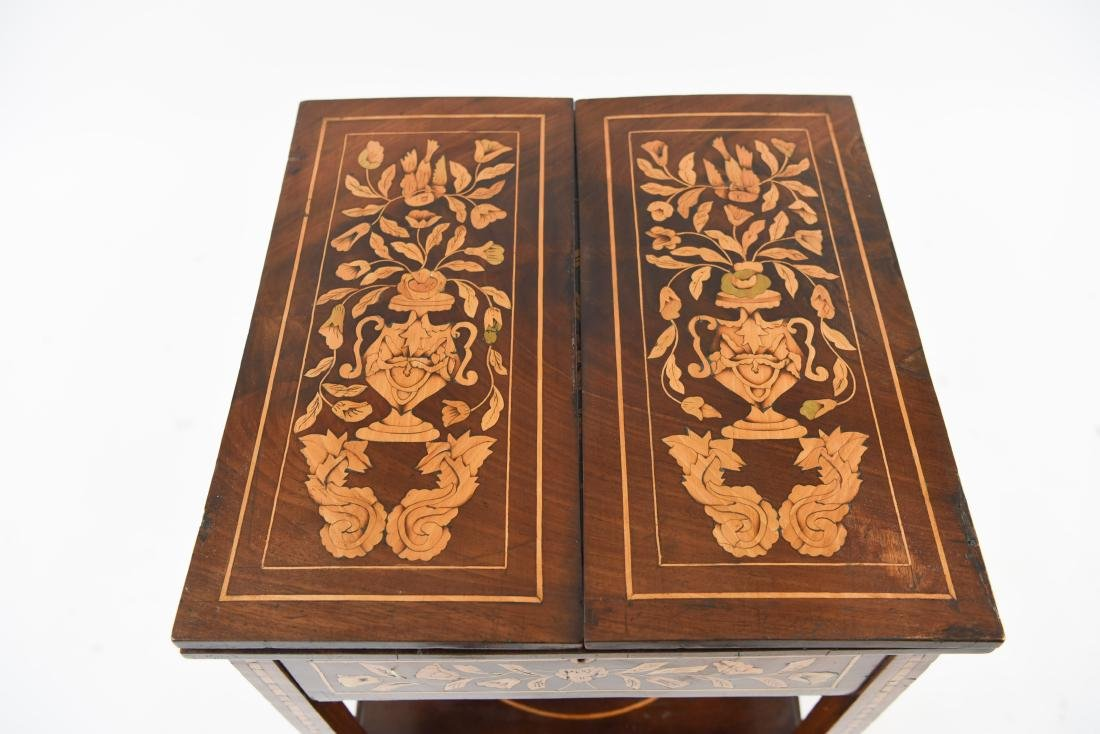 19TH C. INLAID TABLE / STAND - 3