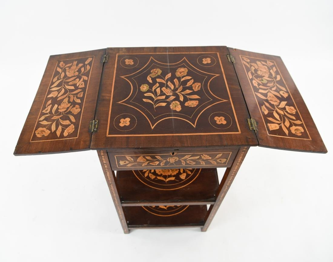 19TH C. INLAID TABLE / STAND - 4