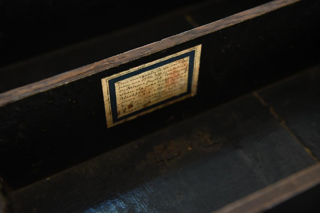 19TH C. INLAID TABLE / STAND - 5