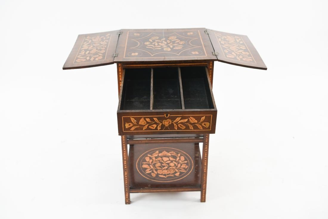 19TH C. INLAID TABLE / STAND - 6