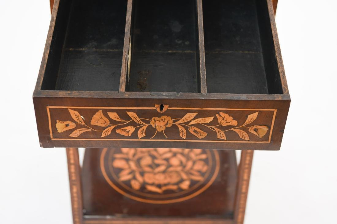19TH C. INLAID TABLE / STAND - 7