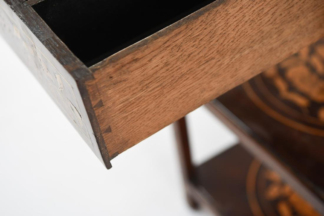 19TH C. INLAID TABLE / STAND - 8
