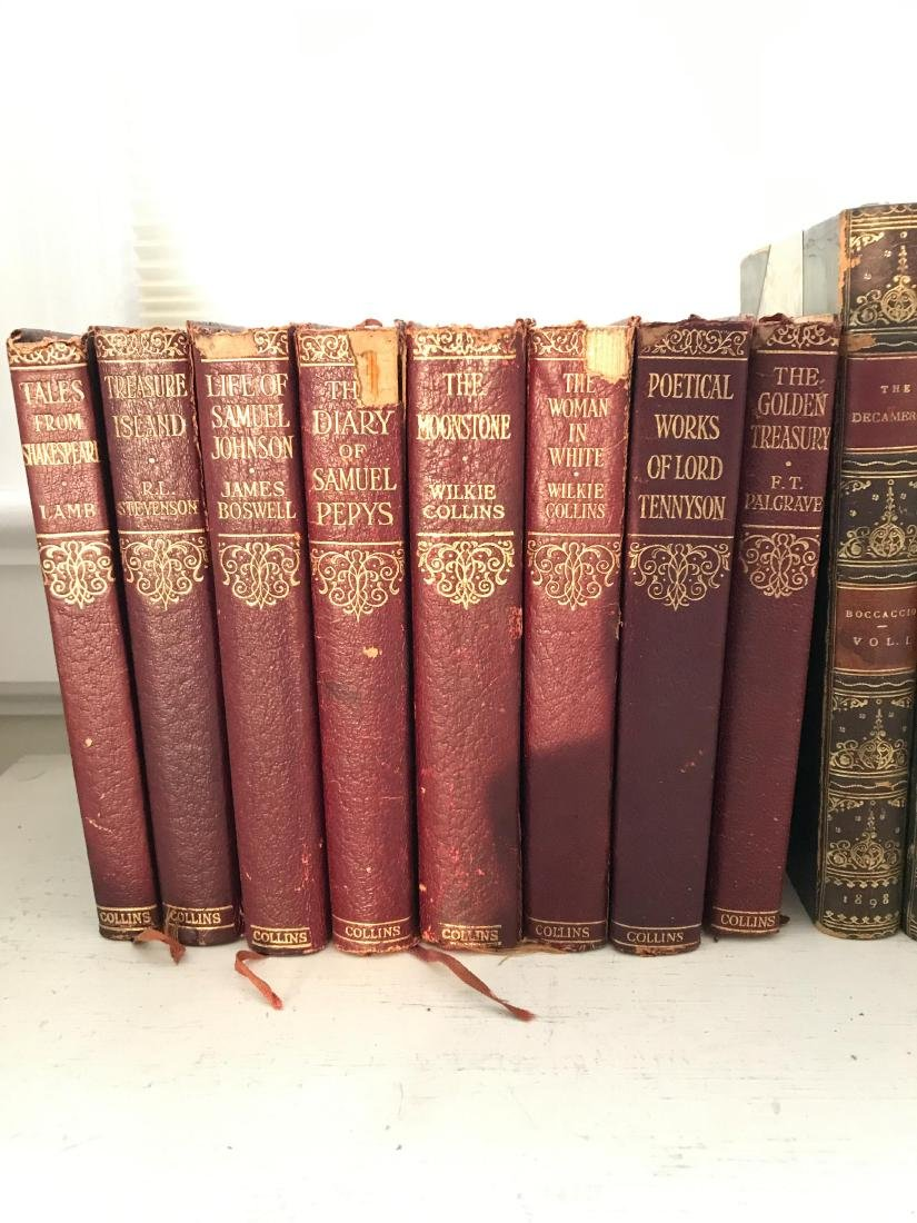 ANTIQUE AND VINTAGE LEATHER BOUND BOOKS - 3