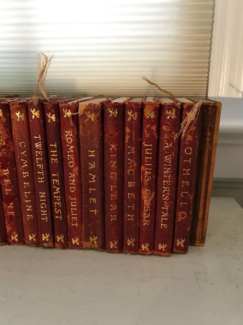 ANTIQUE AND VINTAGE LEATHER BOUND BOOKS - 6