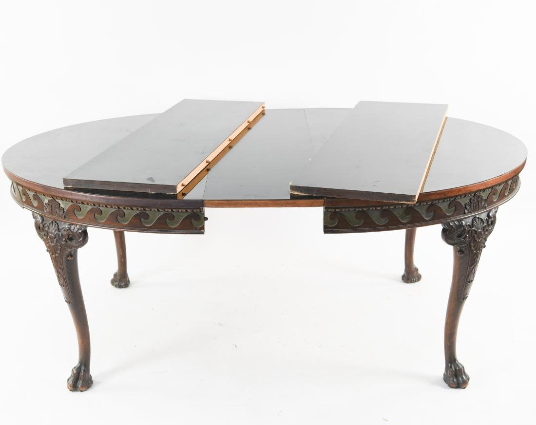 19TH C. CARVED DINING TABLE - 10