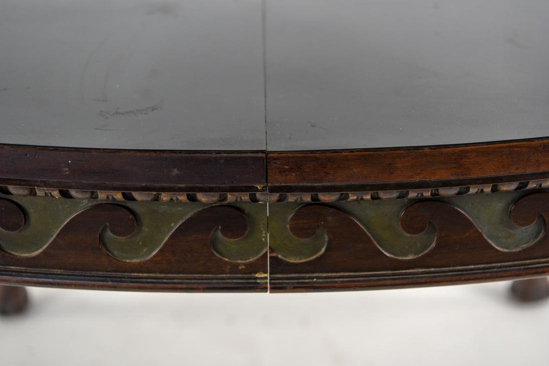 19TH C. CARVED DINING TABLE - 3