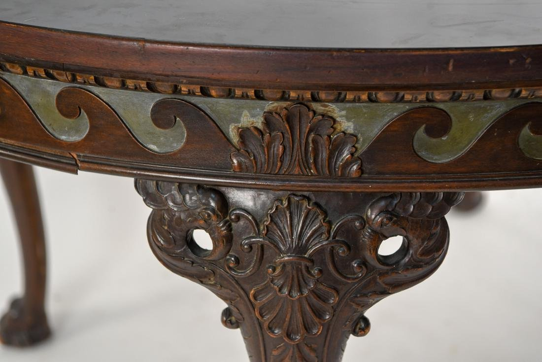 19TH C. CARVED DINING TABLE - 4