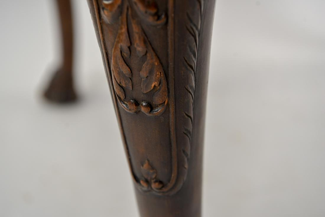 19TH C. CARVED DINING TABLE - 6