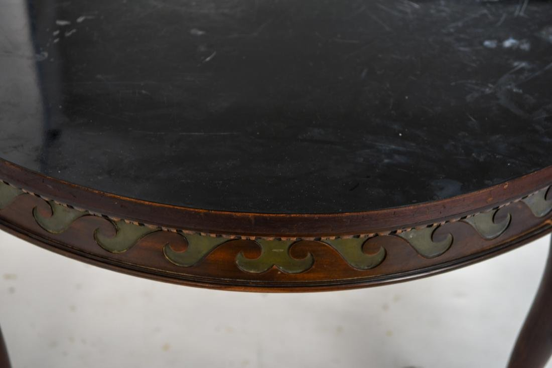 19TH C. CARVED DINING TABLE - 8