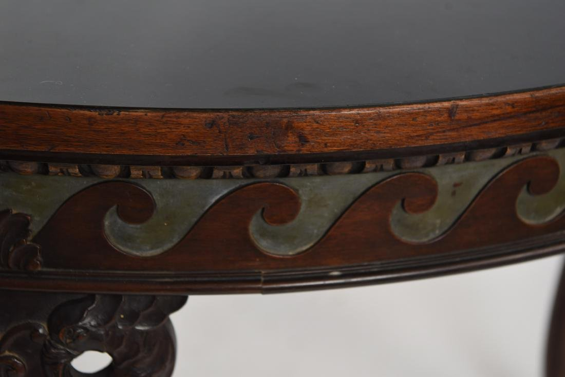 19TH C. CARVED DINING TABLE - 9