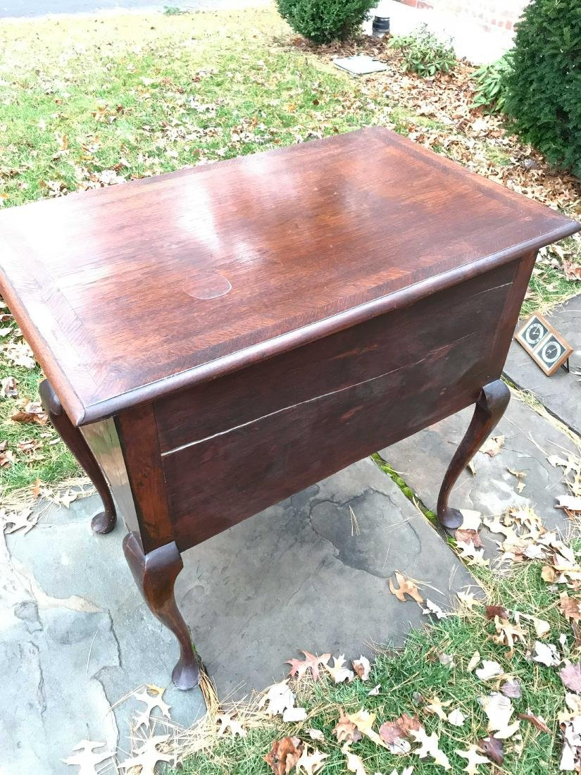 19TH C. QUEEN ANNE STYLE LOW BOY CHEST - 6