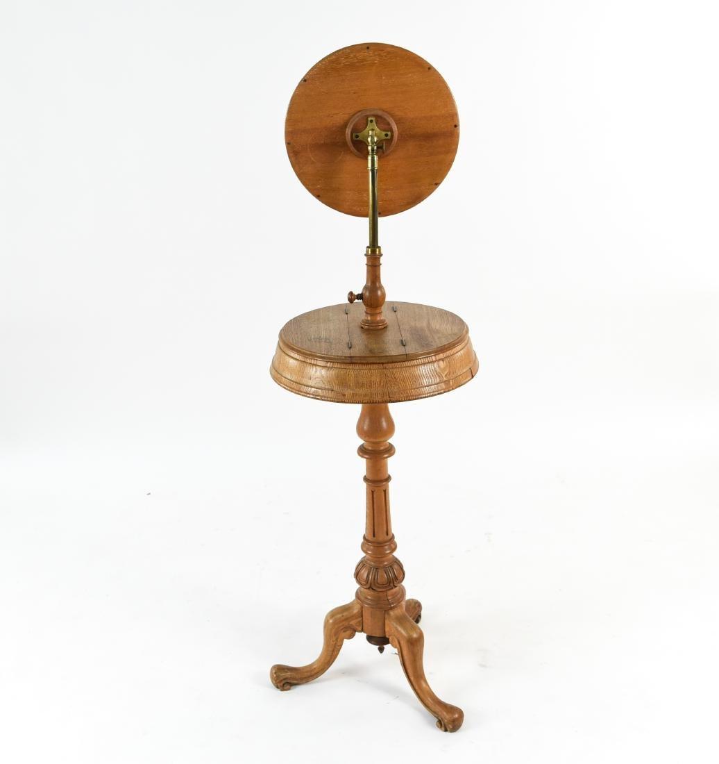 VICTORIAN MAHOGANY SHAVING TABLE W/ MIRROR - 10