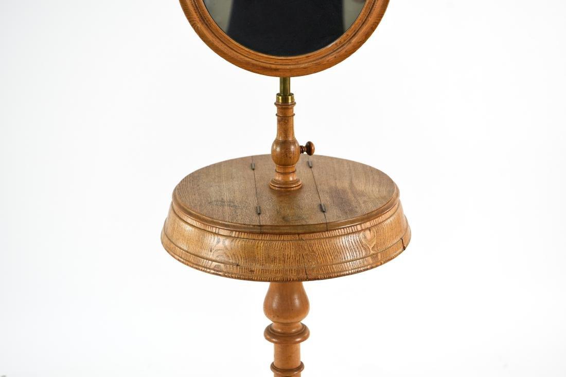 VICTORIAN MAHOGANY SHAVING TABLE W/ MIRROR - 3