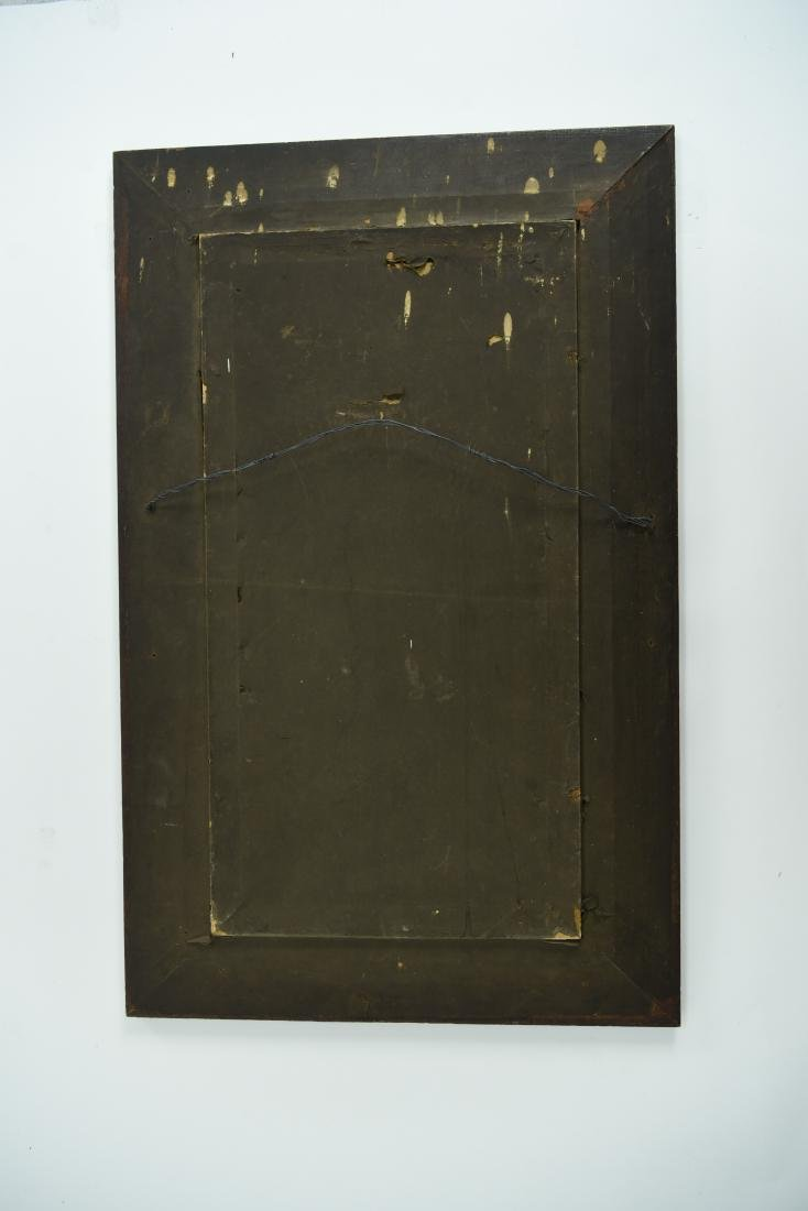LATE 19TH C. ACID ETCHED REVERSE PAINTED MIRROR - 6