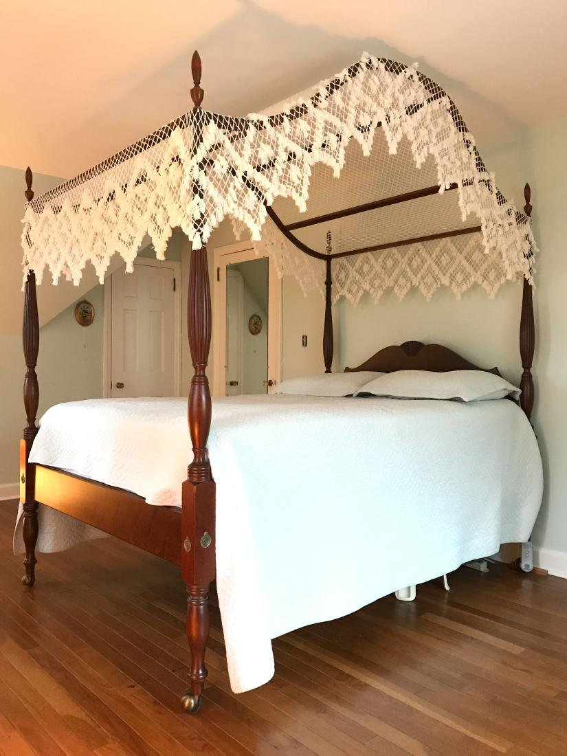 VINTAGE MAHOGANY FOUR POSTER BED - 5