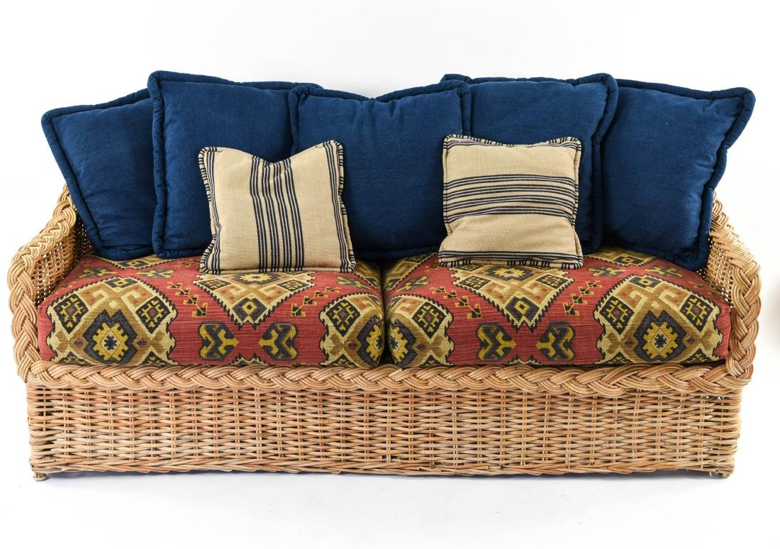 (2) WICKER SOFAS - 3