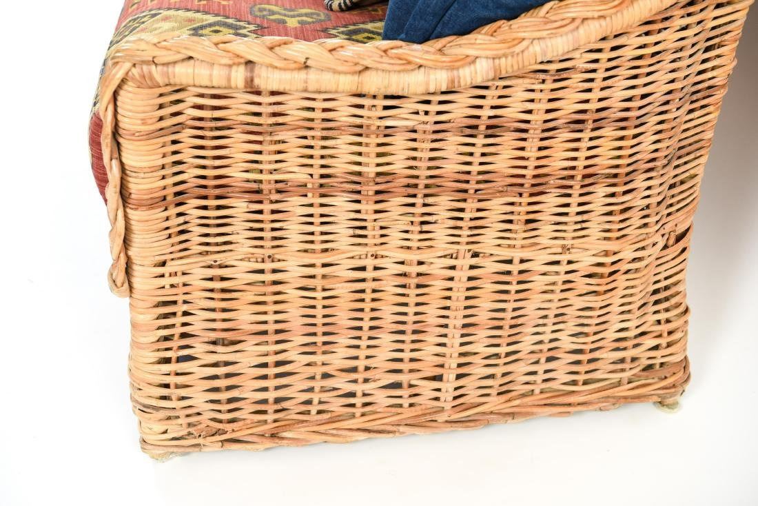 (2) WICKER SOFAS - 9