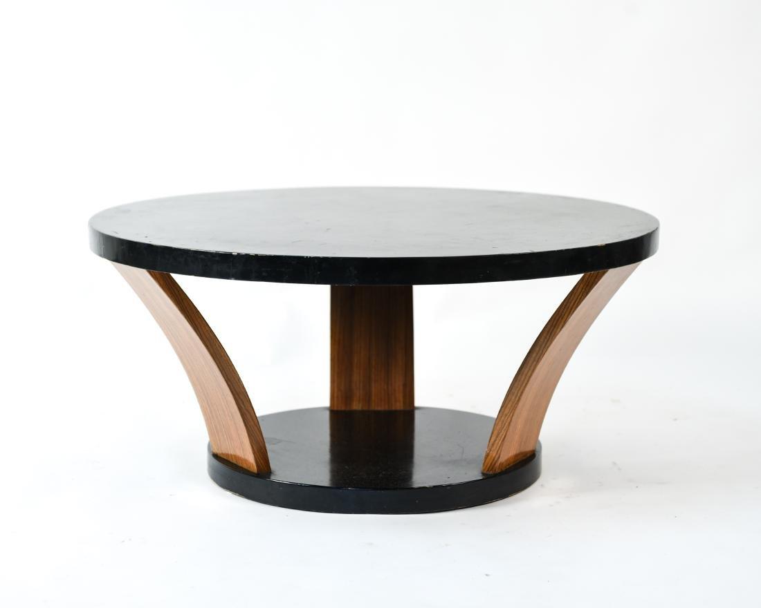 MID-CENTURY ROUND COFFEE TABLE - 2