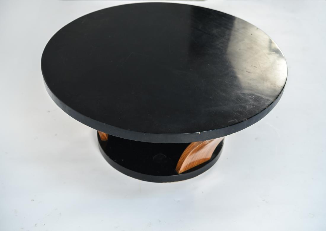 MID-CENTURY ROUND COFFEE TABLE - 4
