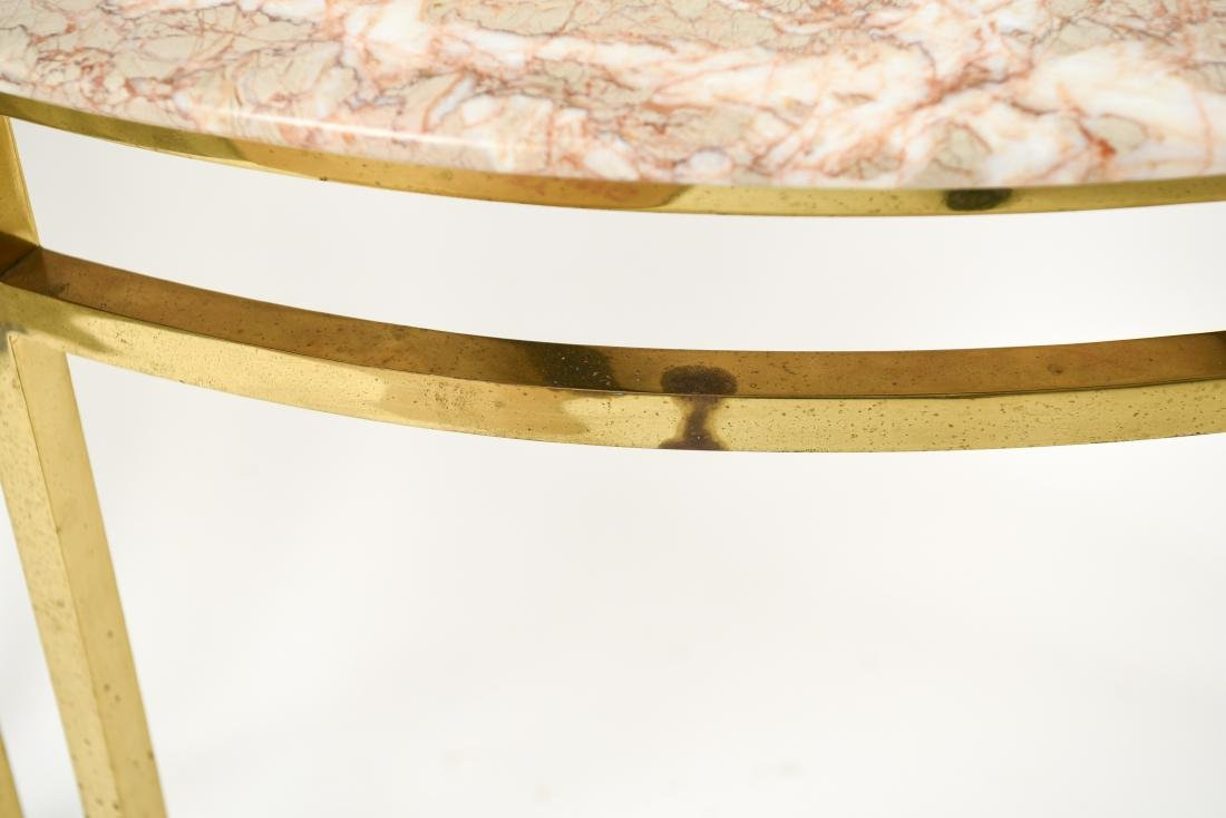 70'S BRASS & MARBLE TOP CONSOLE - 3