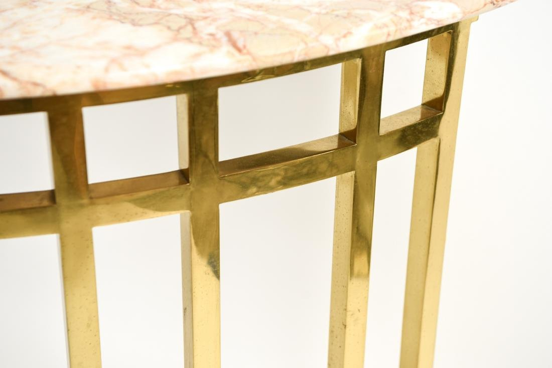 70'S BRASS & MARBLE TOP CONSOLE - 7