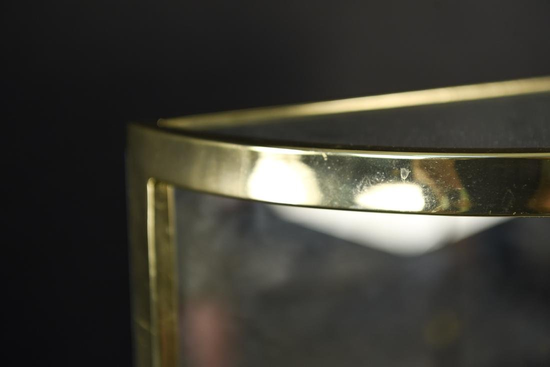 BRASS & MIRRORED DEMI-LUNE SIDE TABLE - 5
