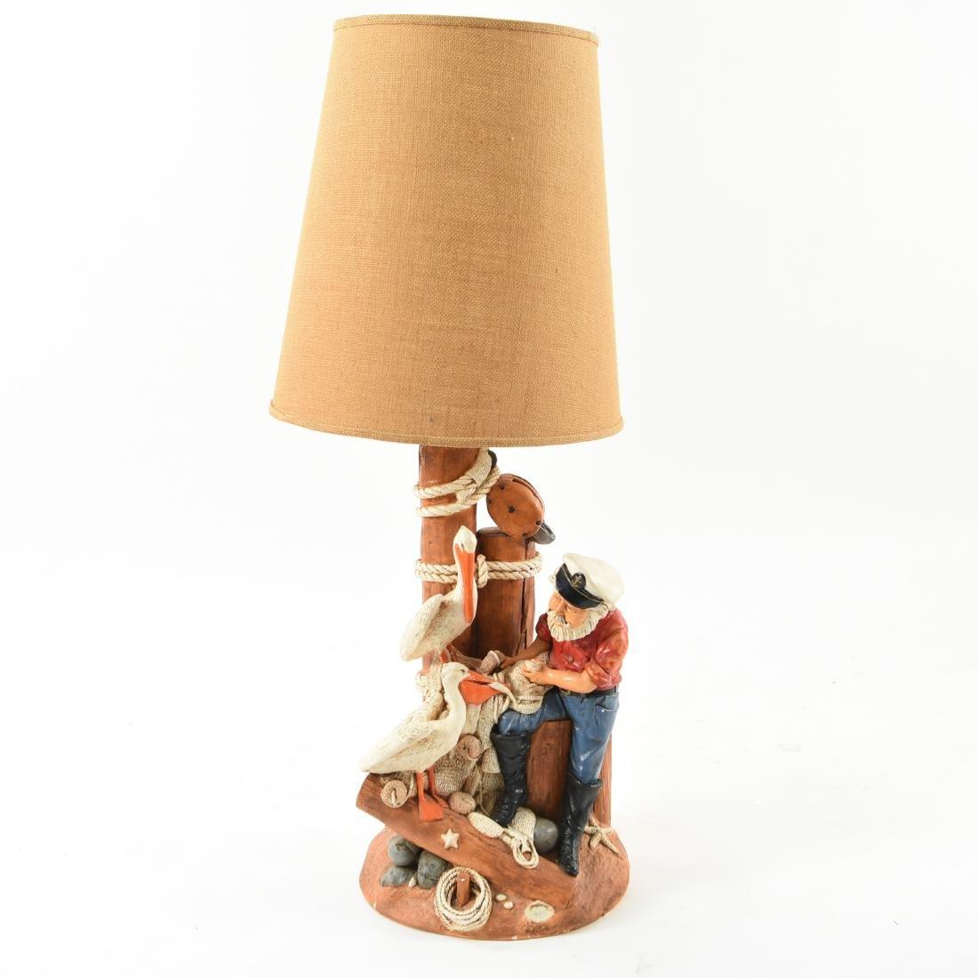 CERAMIC FISHERMAN LAMP