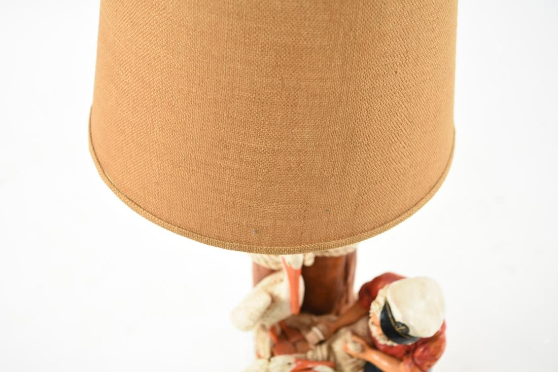 CERAMIC FISHERMAN LAMP - 9