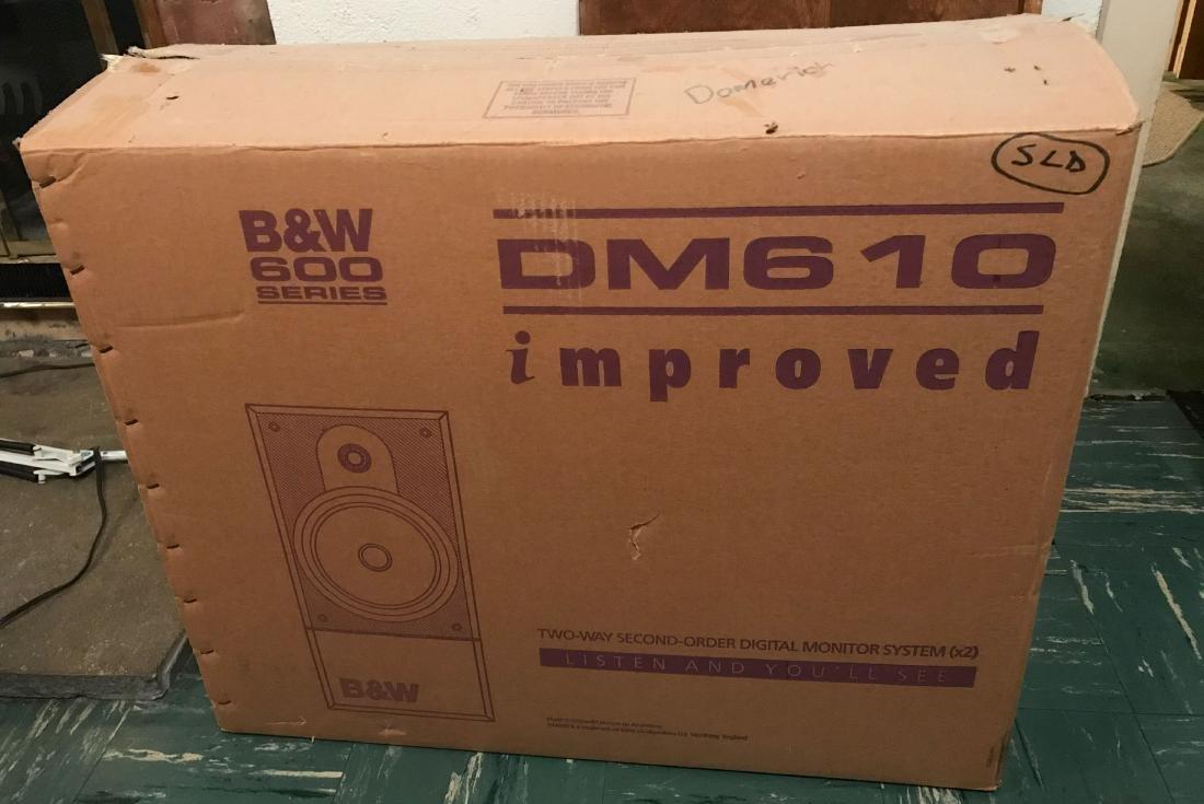 B & W 600 SERIES DM610 SPEAKERS