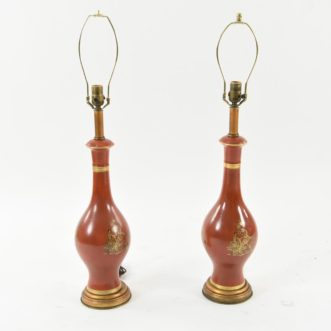 PAIR OF ASIAN PORCELAIN LAMPS