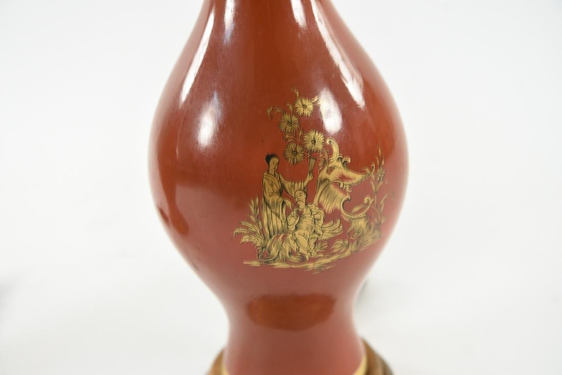 PAIR OF ASIAN PORCELAIN LAMPS - 2