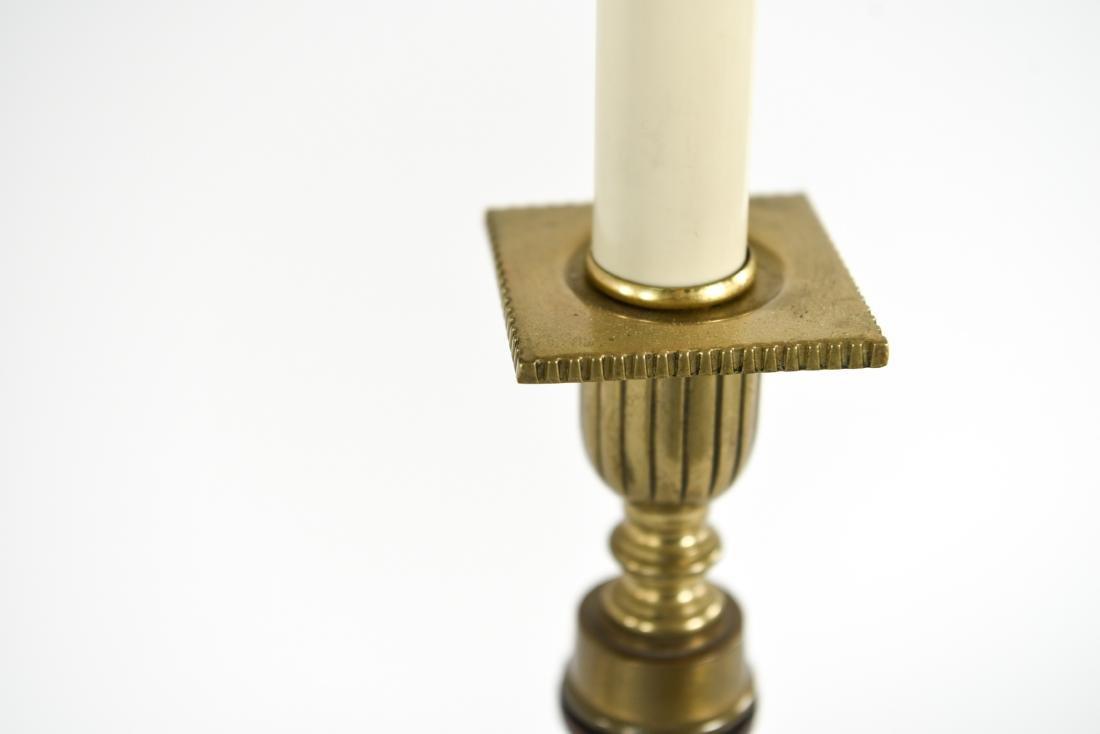 PAIR OF WOODEN COLUMN LAMPS - 6