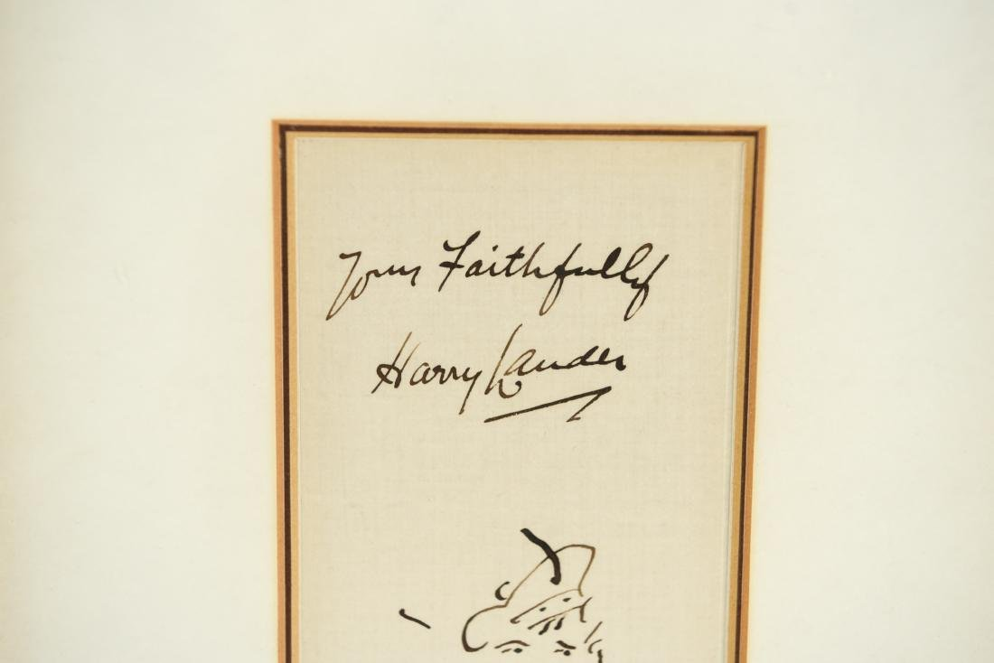 AUTOGRAPH WITH DRAWING: HARRY LAUDER (1870-1950) - 2