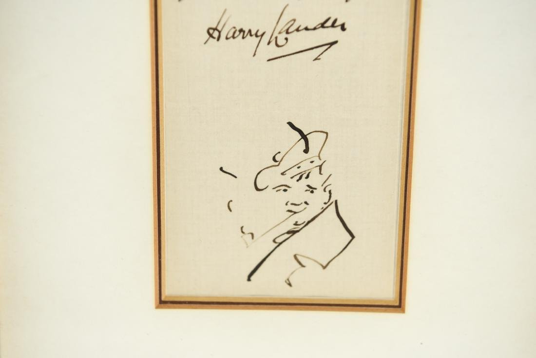 AUTOGRAPH WITH DRAWING: HARRY LAUDER (1870-1950) - 3