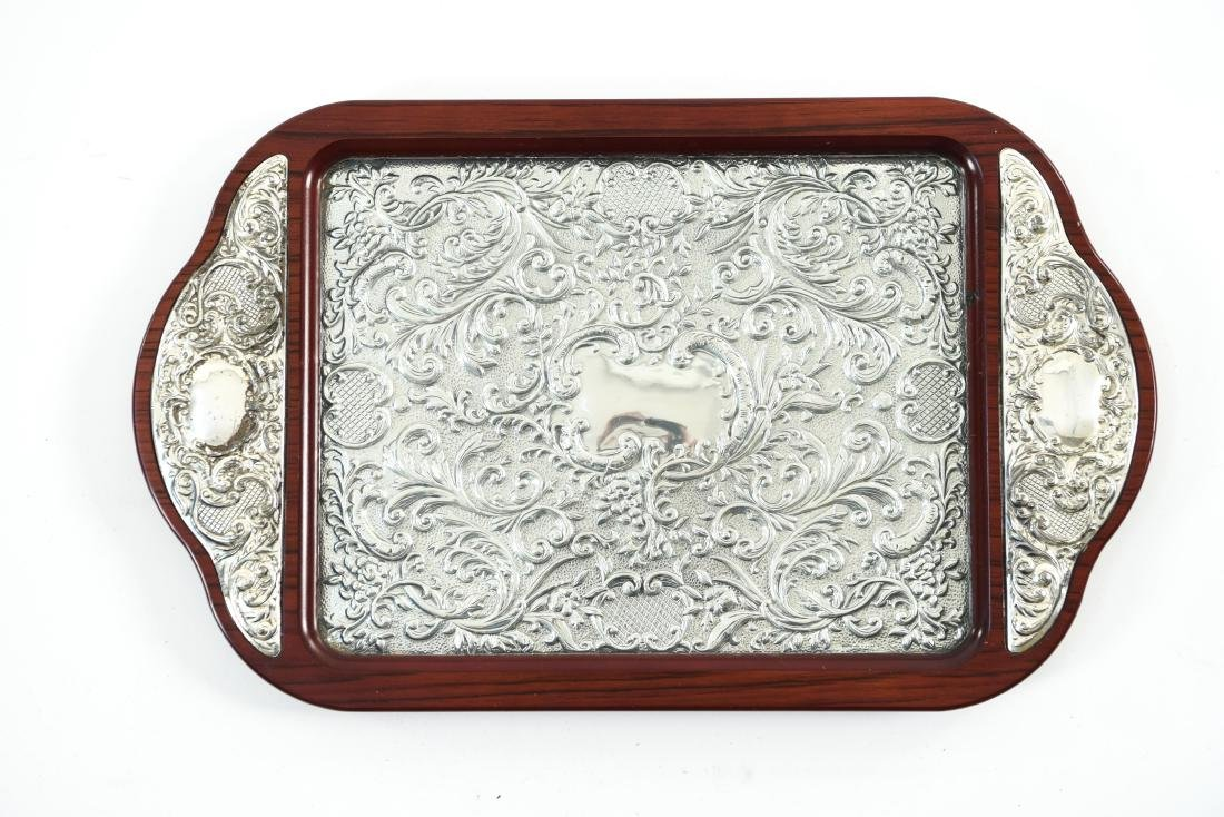 SILVER TRAY AND SILVER MIRROR - 7