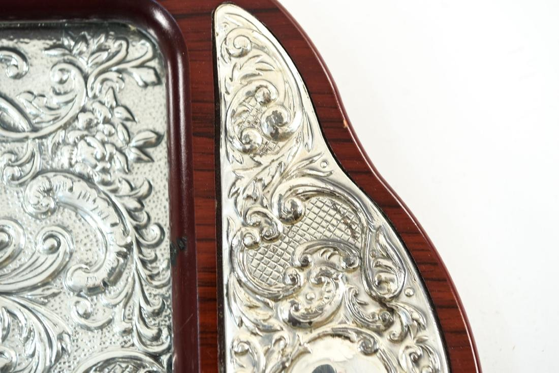 SILVER TRAY AND SILVER MIRROR - 8
