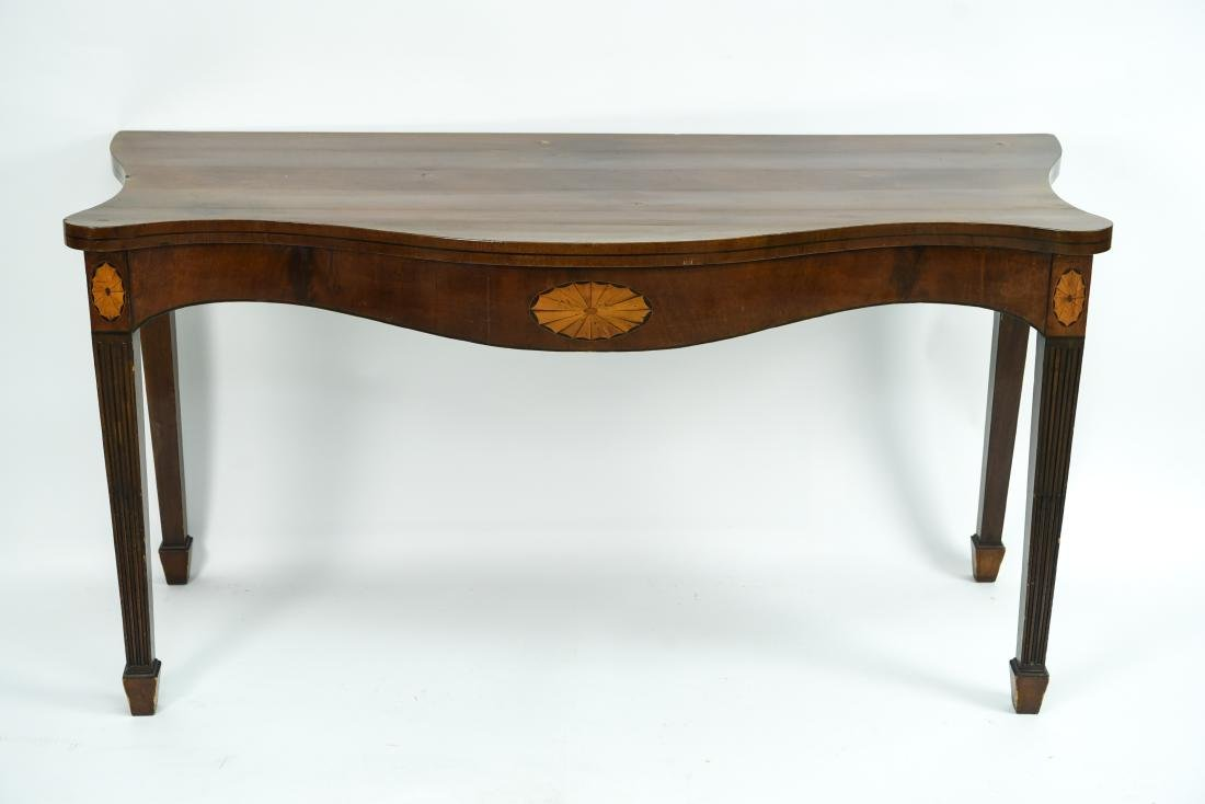MAHOGANY CONSOLE TABLE - 2