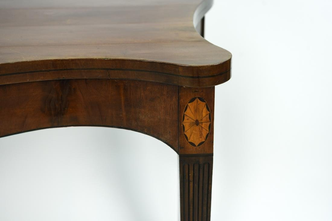 MAHOGANY CONSOLE TABLE - 4