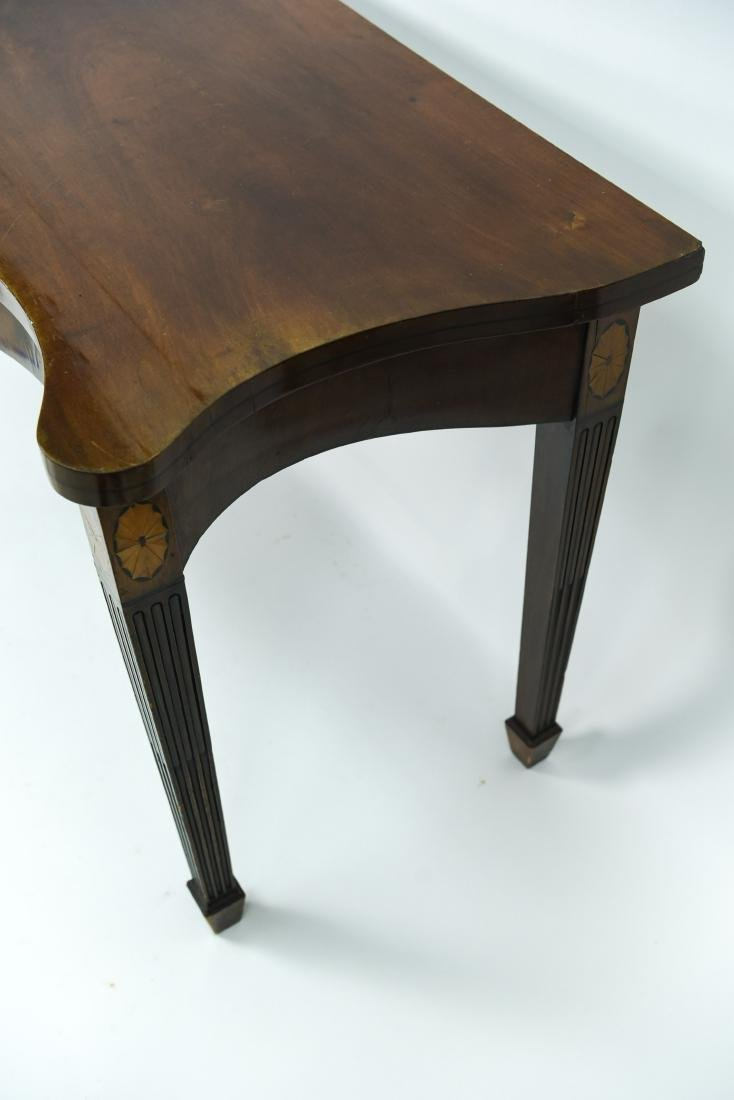 MAHOGANY CONSOLE TABLE - 7