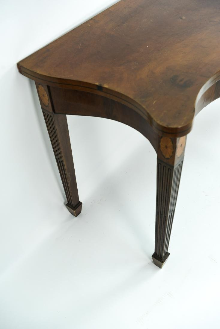 MAHOGANY CONSOLE TABLE - 8